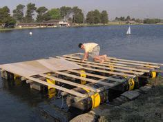 boat dock using plastic barrels 1000 images about barrel boat pipe dream on pinterest