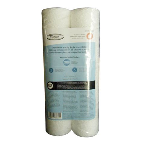 whirlpool whole house water filter whirlpool whkf whsw whole house replacement sediment filter 2 pack