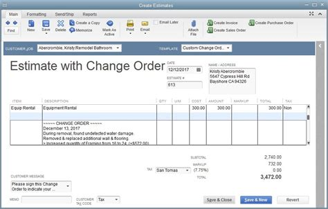 work order template for quickbooks contractor change order templates excel autos post best