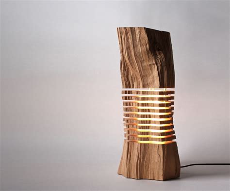 wooden light upgrade lighting stylishly with the sliced wooden l