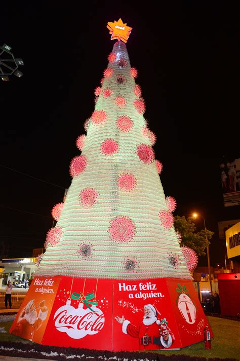 arbol de navidad ecologico coca cola encendi 243 225 rbol navide 241 o ecol 243 gico c 243 digo