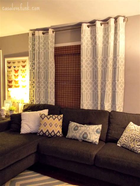 Brown And Gray Curtains Designs The Window Treatment And Sectional This Would Work In My Living Room Livingroom Design