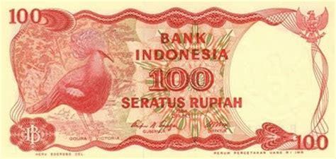 daftar lengkap uang kertas rp100 1945 1992
