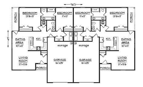 duplex with garage plans duplex house plan s1038d