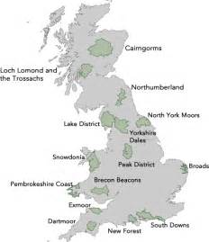 maps national parks uk