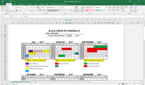 menyusun serta membuat jadwal kegiatan pimpinan aplikasi kalender pendidikan otomatis untuk semua tahun ajaran
