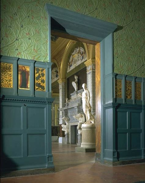 William Morris Green Dining Room by A William Morris And William De Tile Panel