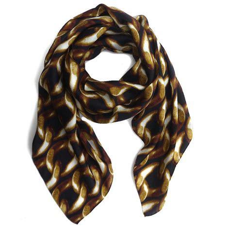 chain silk habotai scarf by kathkath notonthehighstreet