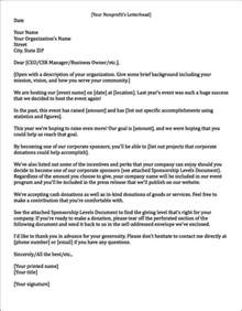 Sponsor Letter For Quince Sponsorship Letter Template For Non Profit Docoments Ojazlink