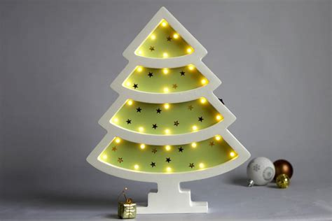 christmas tree light pole wood wood tree with lights decor light for baby battery operated 1 8 sb