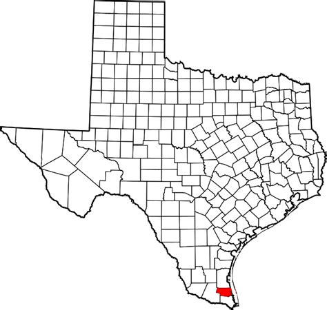 Willacy County Search File Map Of Highlighting Willacy County Svg