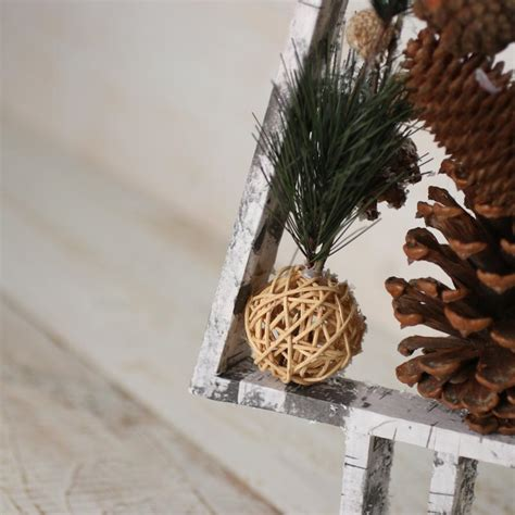 snowy rustic faux birch wood pine tree trees  toppers
