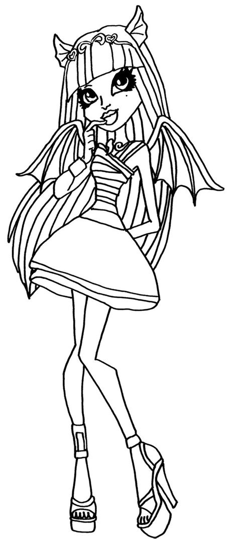 monster high coloring pages by elfkena rochelle goyle by elfkena on deviantart