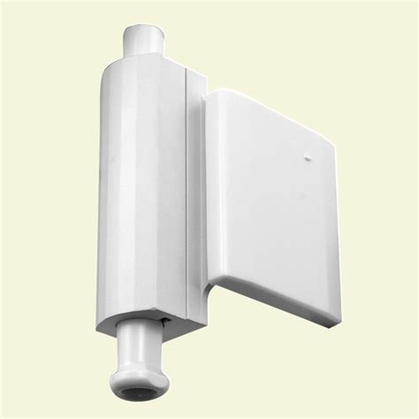 Patio Door Stopper Shop Gatehouse Patio Door Stop Lock Side Mount White At Lowes