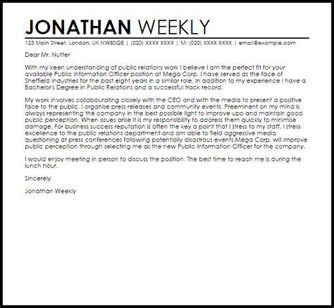 Data Officer Cover Letter by Information Officer Cover Letter Sle Livecareer