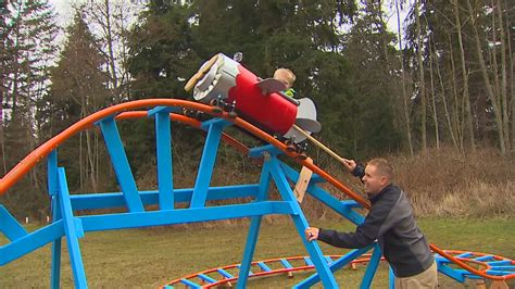 Backyard Rides by How Cool Is This Navy Pilot Builds Roller Coaster In Backyard For 3 Year Wpde