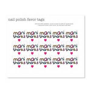 printable colorful mani thanks favor tags print it baby