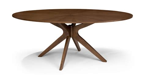 elliptical dining table conan oval dining table dining tables article modern