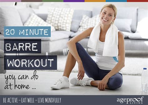 20 minute barre workout you can do at home