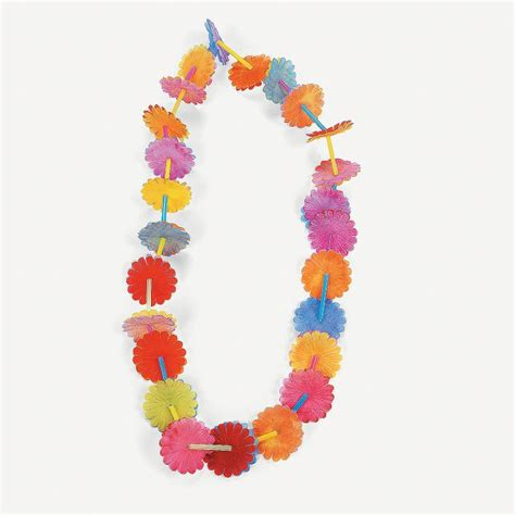 How To Make Paper Flower Leis - flower craft kit colored straws string and paper
