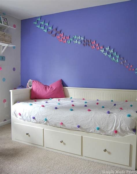 purple pink and blue bedroom girls bedroom home decor that you can diy on a budget