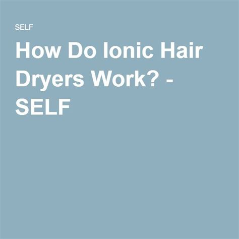 Hair Dryer How It Works how do ionic hair dryers work hair dryers and hair dryer