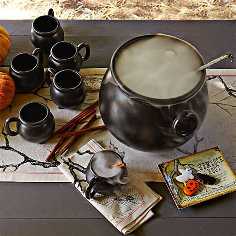 Stoneware Cauldron Mugs and Serving Bowl   The Green Head