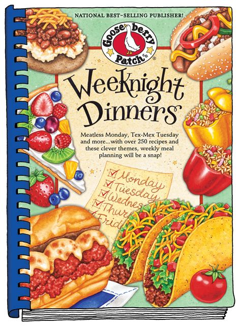 dinner cookbook gooseberry patch weeknight dinners cookbook giveaway