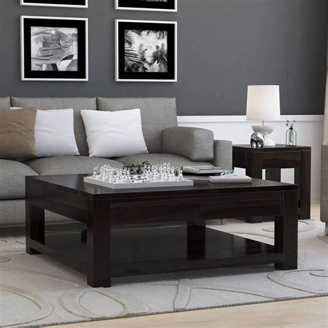 square coffee table glencoe contemporary style solid wood large square coffee