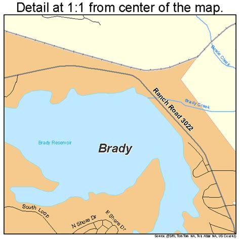 brady texas map brady texas map 4809916