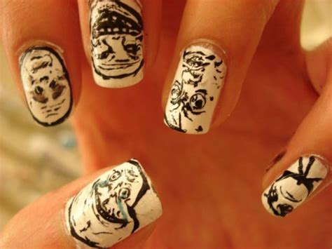 Meme Nails - cool forever alone fuck yeah funny memes image