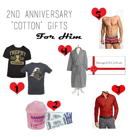 cotton 2nd anniversary gifts 2nd anniversary ideas pinterest
