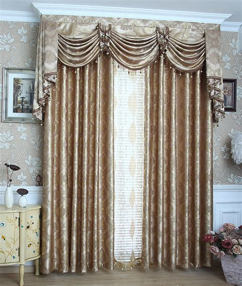 buy valance curtains aliexpress com buy 2016 fashion jacquard curtains gold