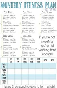 monthly fitness plan for beginners this is a four week