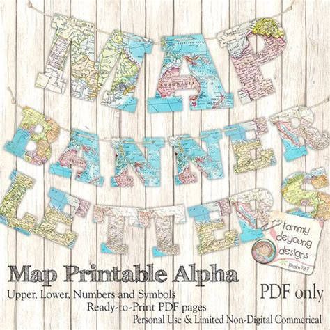 printable garland letters map banner garland printable world map alphabet by