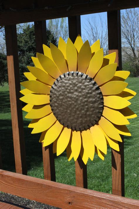 outdoor decor metal flower garden decor hand cut metal flower metal wall