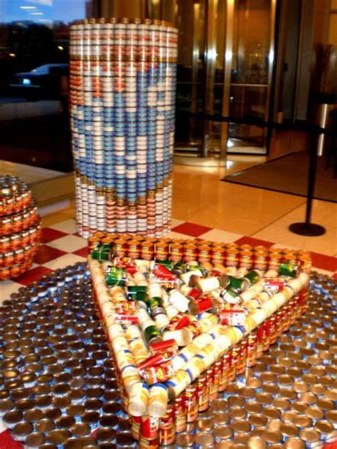 simple canstruction ideas canstruction ideas google search can structure idea