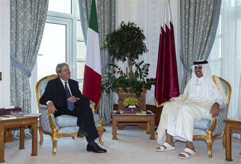 il presidente consiglio dei ministri visita presidente consiglio gentiloni in qatar