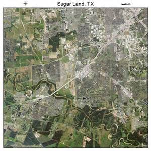 aerial photography map of sugar land tx texas