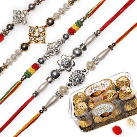 Exclusive Set 5 exclusive rakhi set set of 5 rakhis rakhi sets