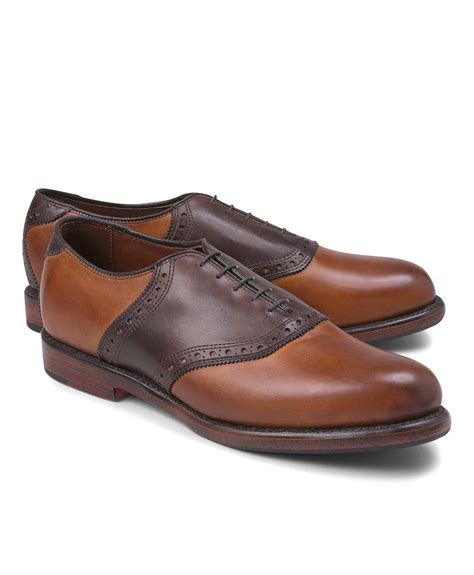 saddle shoes brothers leather saddle shoes in brown for lyst