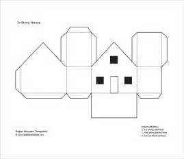 How To Make A 3d Paper House - paper house template 9 free documents in pdf psd