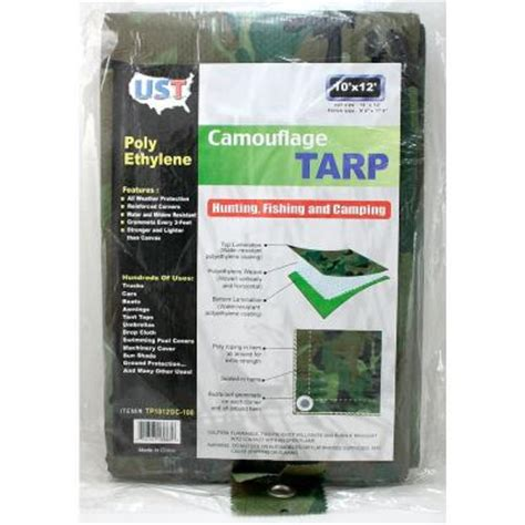 10 ft x 12 ft camouflage tarp tp1012 12 the home depot