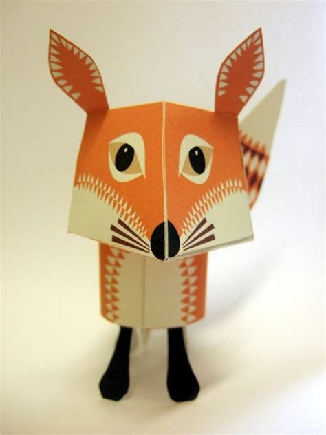 Animal Paper Crafts - adorable printable papercraft animals and easy to
