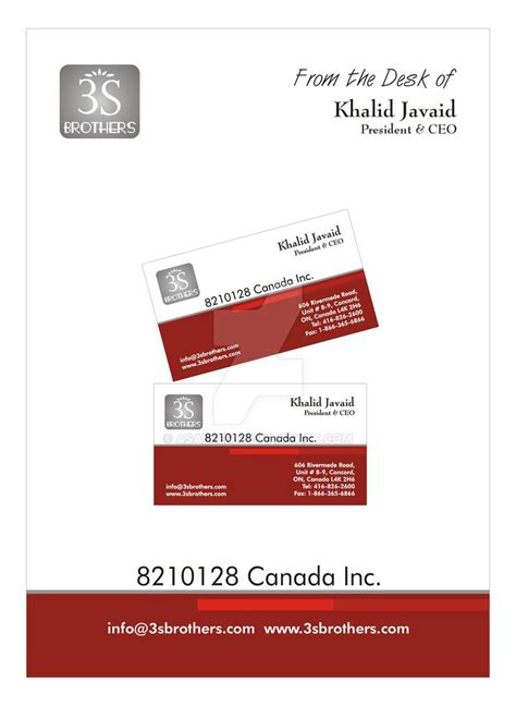 brothers business card template 3s brothers business card pad by asaleem on deviantart