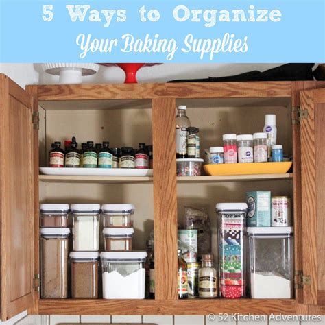 kitchen cabinet supply store 5 ways to organize your baking supplies