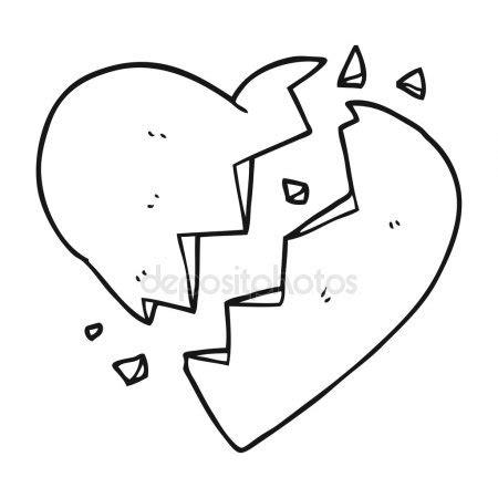 imagenes de corazones rotos para colorear blanco y negro dibujos animados de coraz 243 n roto archivo