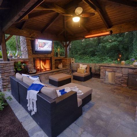 covered patio with fireplace noelito flow patios tvs and outdoor living