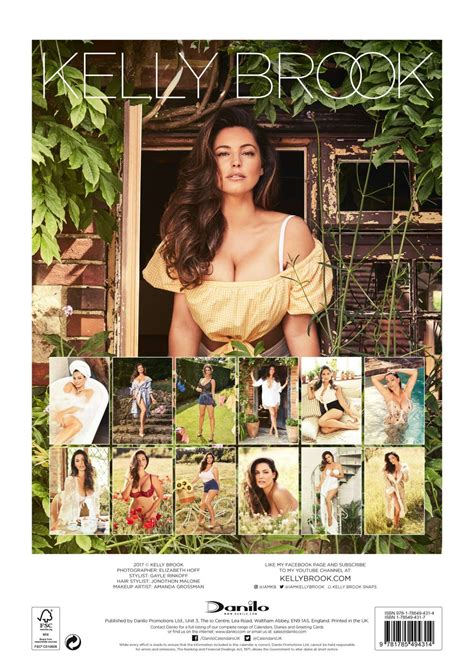 kelly brook official 2018 kelly brook 2018 calendar 02 gotceleb