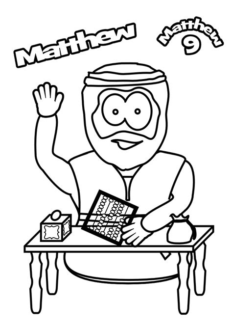 free coloring pages of matthew the tax collector